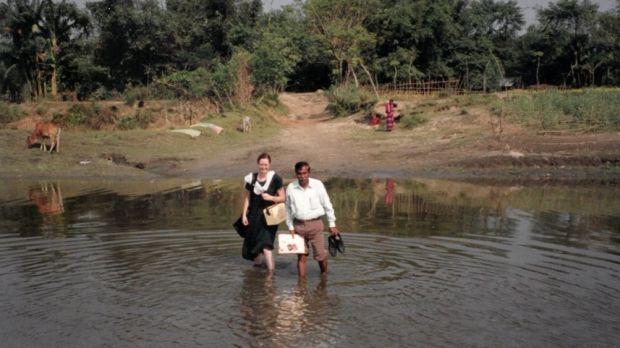 Maureen Bartee in Bangladesh in 2000