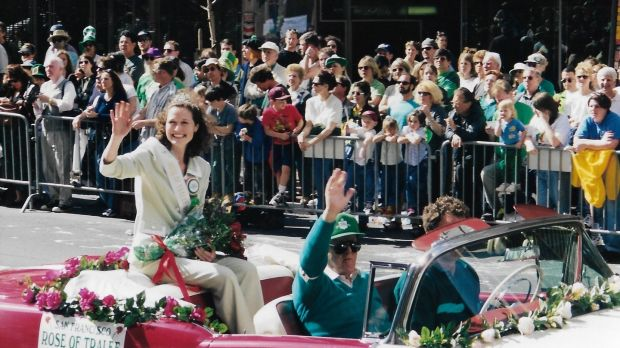 Maureen Bartee during the San Francisco St Patrick's Day parade in 1998
