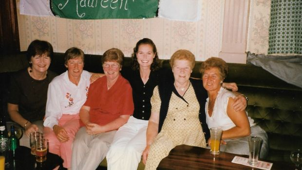 Maureen Bartee with family in Moate in 1997
