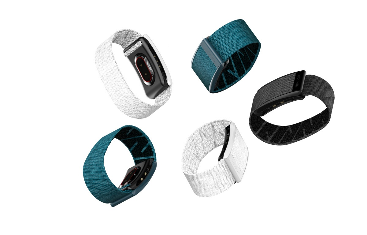 Five WHOOP Straps, a popular fitness tracker in 2020