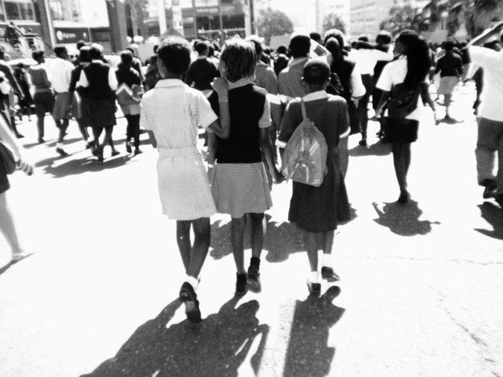 Cape town Africa children protest