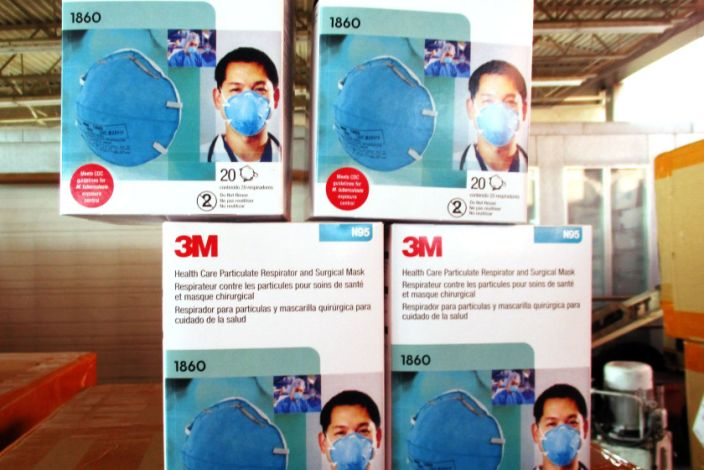 Image: Federal agents intercepted boxes of fake N95 masks (CBP)