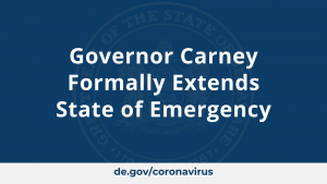 Governor Carney Formally Extends State of Emergency