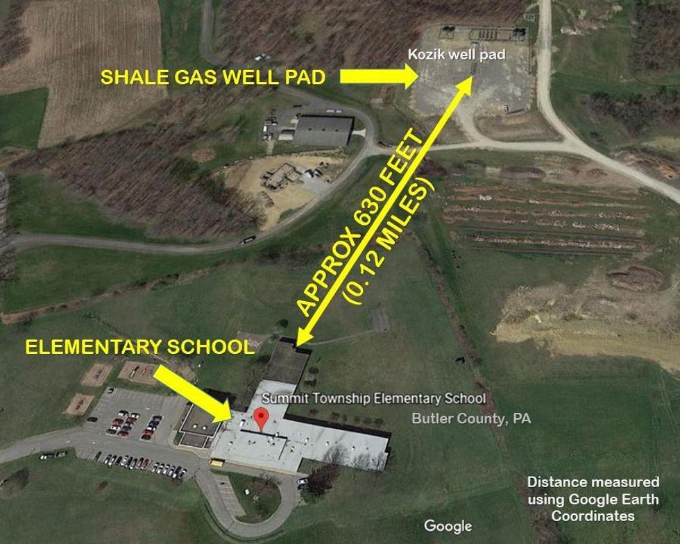 fracking near schools