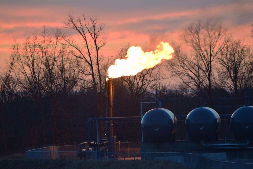 fracking flaring