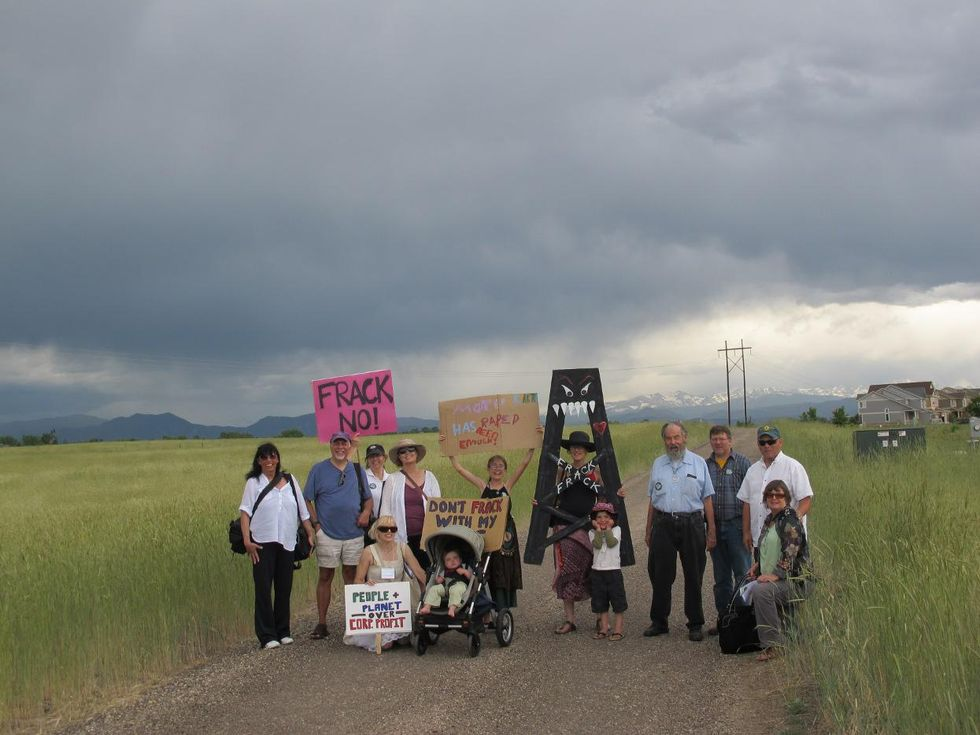 fracking protest colorado