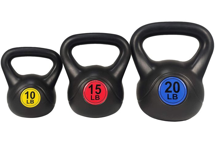 BalanceFrom Wide Grip 3-Piece Kettlebell Set