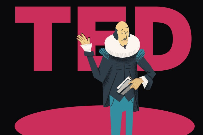 Shakespeare giving a TED Talk.
