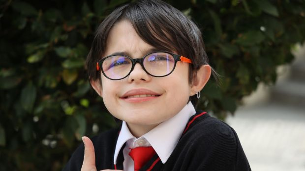 Seán McManus Allen, who is deafblind, was born with a rare syndrome, and has an obsession with facts. Photograph: Nick Bradshaw